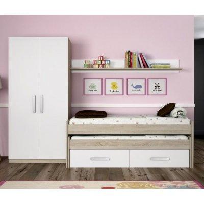 Dormitorio Juvenil Modelo Nebraska Arena-Blanco - Imagen 1