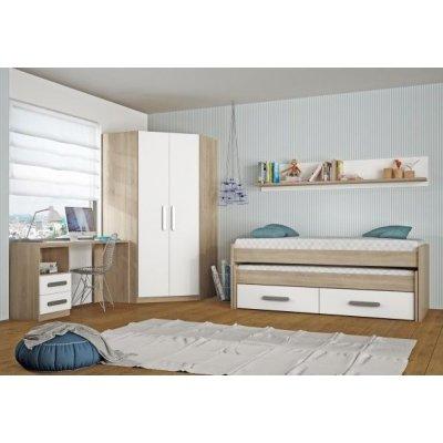 Dormitorio Juvenil Rincón + Escritorio Modelo Nebraska Arena-Blanco - Imagen 1