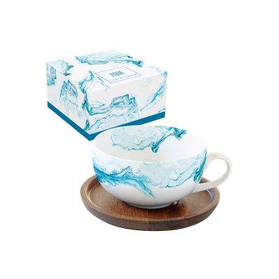 Taza té plato Aqua - Imagen 1