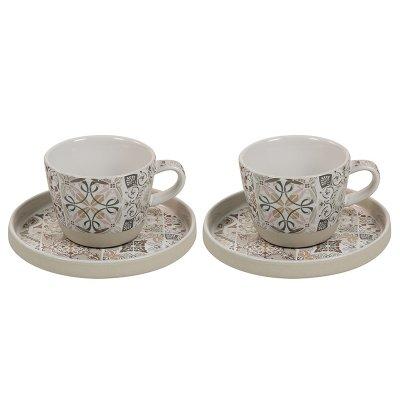 Jgo. 2 tazas cp gris Casadecor - Imagen 1