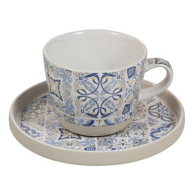 Taza plato azul Casadecor - Imagen 1