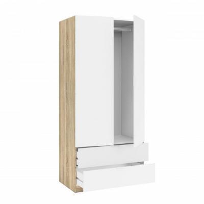 Armario 2 Puertas + 2 Cajones Modelo Nordic Color Roble-Blanco - Imagen 8