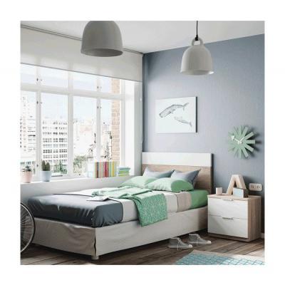 Cabezal + Mesita modelo Nordic Color Roble-Blanco - Imagen 1