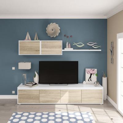 Composición de salón Moderno Modelo Home Color Roble y Blanco - Imagen 1