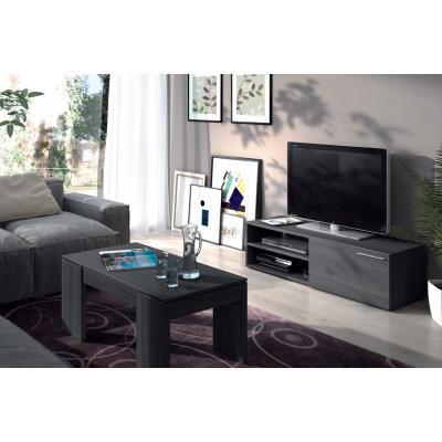 Mueble Tv Salón Color Ceniza Hueco-Puerta Modelo Althea - Imagen 1