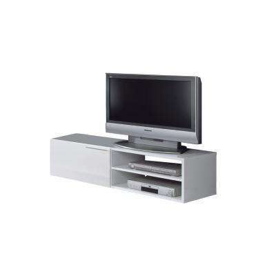 Mueble Tv Salón Color Blanco Brillo Hueco-Puerta Modelo Althea - Imagen 1