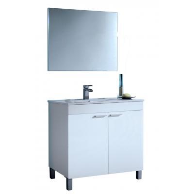 Mueble Baño 2 Puertas 80 cm + Lavabo + Espejo Modelo LCD - Imagen 1