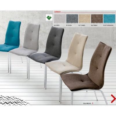 Silla Comedor Modelo Milka - Varios Tejidos Distintos - 4 Colores Estructura - Imagen 1