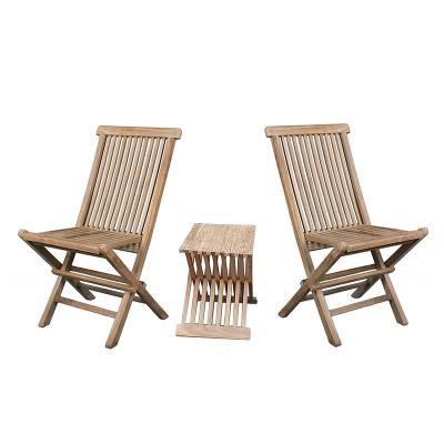 Conjunto de mesa con 2 sillas - Imagen 1