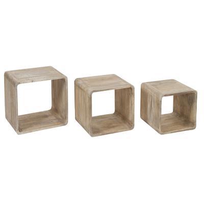 Set de 3 cubos madera - Imagen 1
