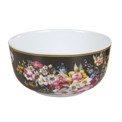 Bol porcelana Bloom Black - Imagen 1