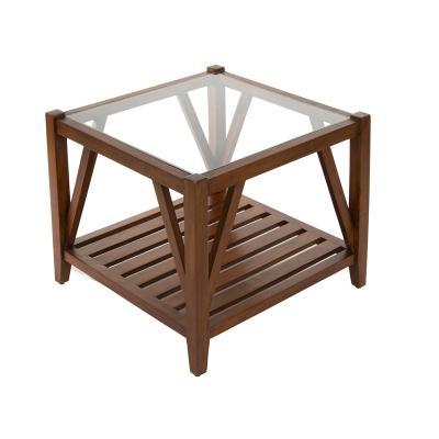 Mesa centro con cristal - Imagen 1