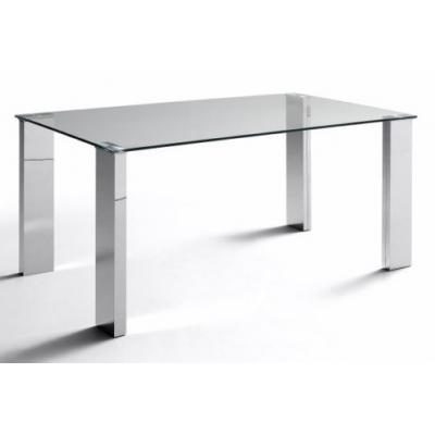 Mesa Oficina Modelo Eco Stela Estructura Cromada 140x80 - Imagen 1
