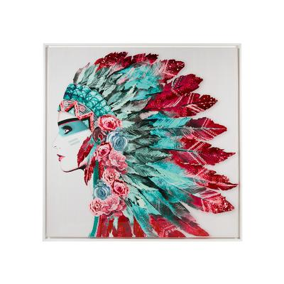 Cuadro plumas india - Imagen 1