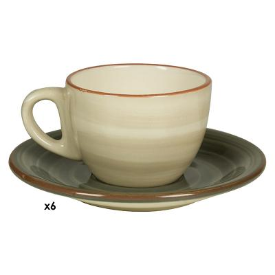 Jgo. 6 tazas café Tuscany gris - Imagen 1