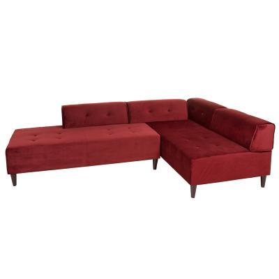 Chaise lounge Ceos burdeos - Imagen 1