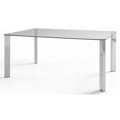 Mesa Oficina Patas Cromadas Modelo Zenda 120x90 - Imagen 1
