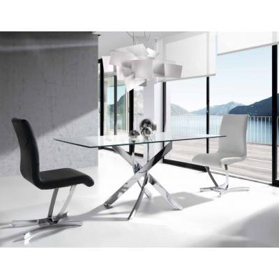 Mesa Comedor Modelo Exclusive 180x95 Base Acero Cromado - Imagen 1