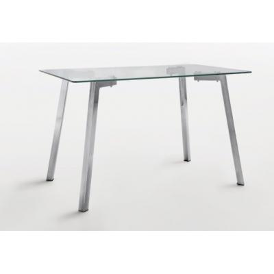 Mesa Comedor Modelo Duke Acero y Cristal 140x80 - Imagen 1