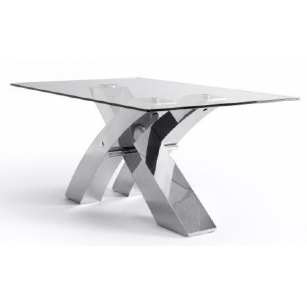 Mesa Comedor Estructura Cromada Modelo Logan 180x100 - Imagen 1