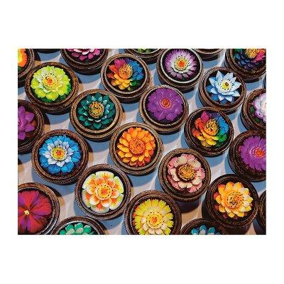 Cuadro flores colores - Imagen 1