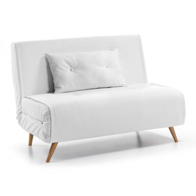 TUPANA Sofá Cama Compacto 100 cm Blanco - Imagen 1