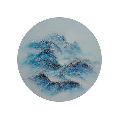 Cuadro abstracto redondo - Imagen 1