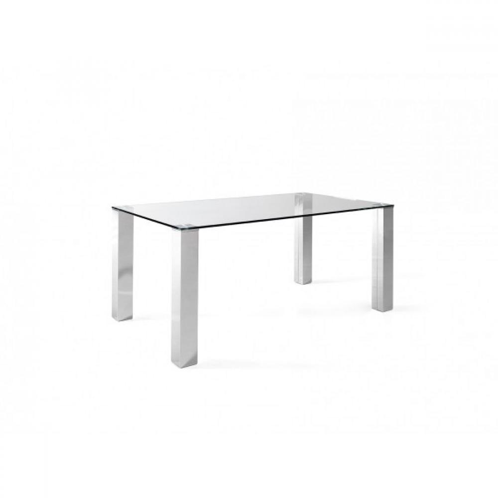 Mesa Oficina Eco Chantal Cristal y Acero 120x70 | Mobelfy