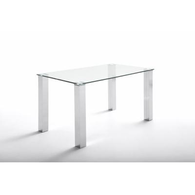 Mesa Oficina Eco Chantal Cristal y Acero 120x70