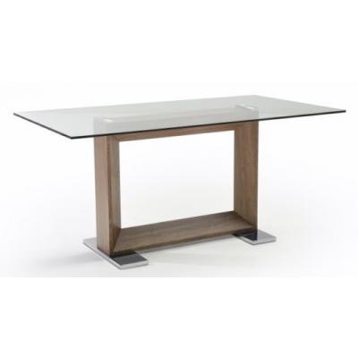 Mesa de Comedor Nogal Modelo Rochas 160x90 - Imagen 1