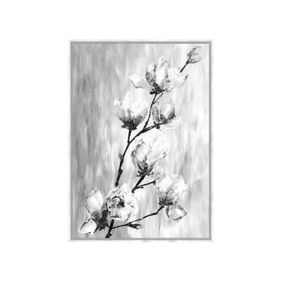 Cuadro flores byn - Imagen 1