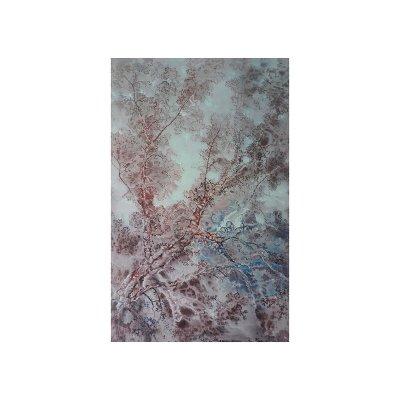 Cuadro árbol azul - Imagen 1