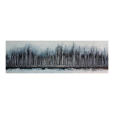 Cuadro abstracto plata - Imagen 1
