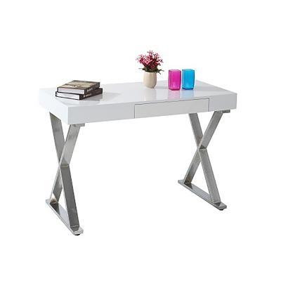 Mesa escritorio cromada - Imagen 1