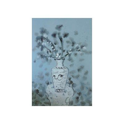 Cuadro jarrón flores - Imagen 1