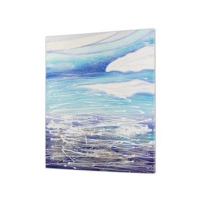 Cuadro abstracto azul - Imagen 1