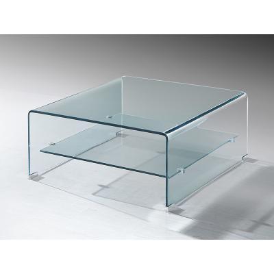Mesa centro cristal cuadrada - Imagen 1