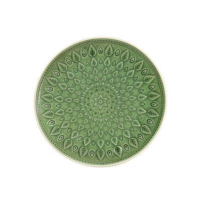 Plato llano natural verde - Imagen 1