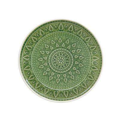 Plato postre natural verde - Imagen 1