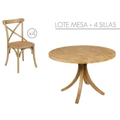Lote mesa con 4 sillas - Imagen 1