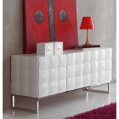 Aparador Bajo Tres Puertas Blanco Brillo 750 - Imagen 1