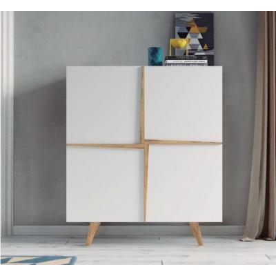Aparador Cubo Aspen blanco mate - Imagen 1