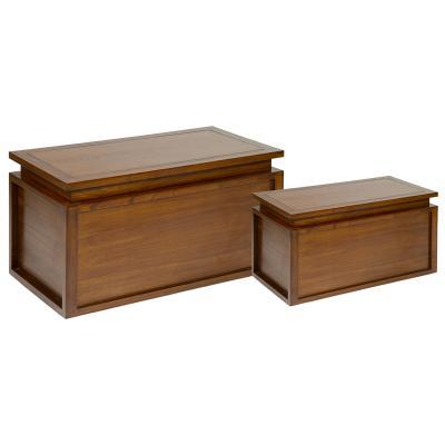 Juego de 2 baúles en madera - Imagen 1