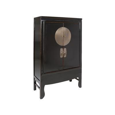 Armario negro 2 puertas - Imagen 1