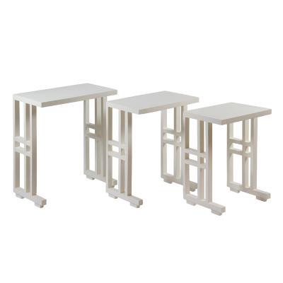 Juego de 3 mesas Nido blancas - Imagen 1