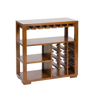 Botellero con estantes madera - Imagen 1
