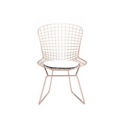 silla metálica asiento blanco - Imagen 1
