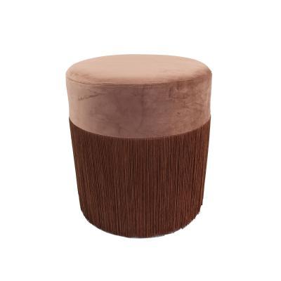 Puff velvet marron - Imagen 1