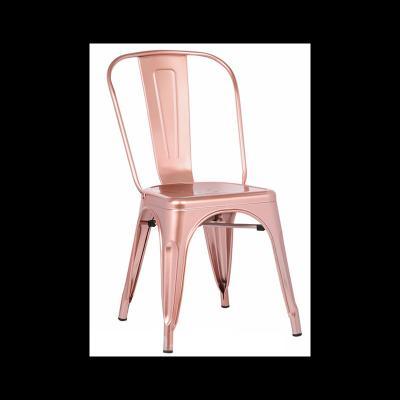 Silla Industrial Tol Acero Brillo Rose Gold Edition - Imagen 1