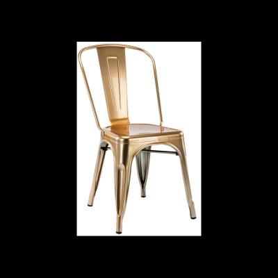 Silla Industrial Tol Acero Brillo Gold Edition - Imagen 1